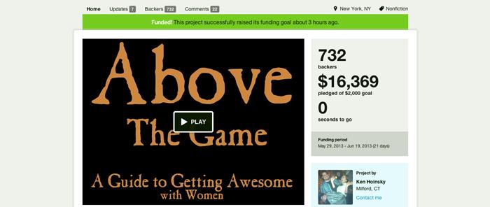 Screenshot von der Kickstarter-Seite