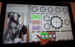 Touchscreen-Anwendung zum Zeigen der Analytical Engine