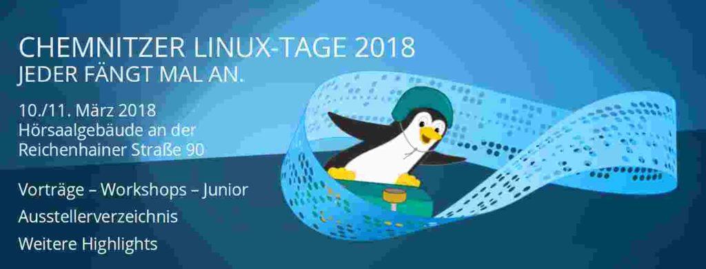Veranstaltungsbanner der Chemnitzer Linuxtage 2018