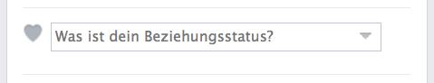Facebookabfrage: Was ist dein Beziehungsstatus?
