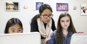 Girls Who Code Clubs Program in Montclair, NJ holds a graduation day and presentation for family and supporters on November 17, 2017.