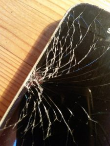 Smartphone mit gesplittertem Display