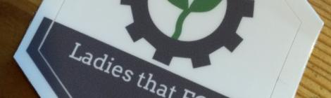 Aufkleber mit Logo von Ladies That FOSS