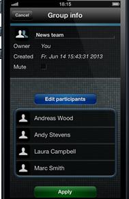 myENIGMA - Gruppenfenster (iPhone)