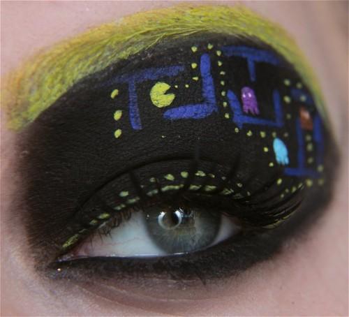 Pacman Augen-Makup