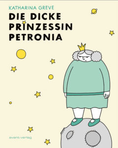 Coverbild des Comics. Die Prinzessin steht auf einem kleinen Planeten und schaut missmutig.