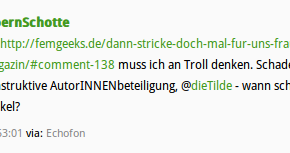 Screenshot Tweet Björn Schotte