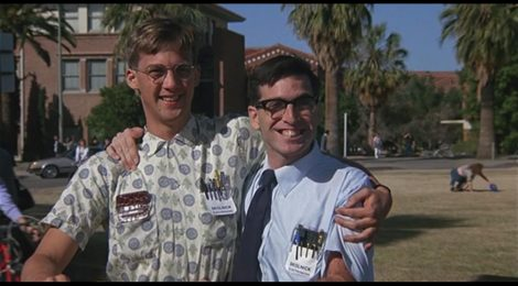 "Anthony Edwards und Lewis Skolnick in ""Revenge of the Nerds"""
