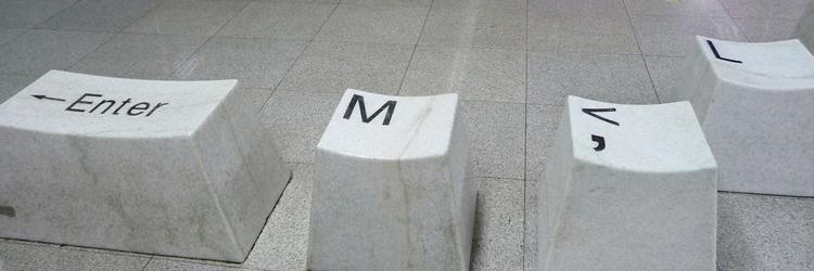 """Keyboard-Tasten """"Enter"""", """"M"""", """"V"""" und """"L"""" als Sitzplätze in Shenzen"""